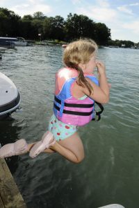 Jumping from dock