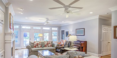 living area ceiling fans