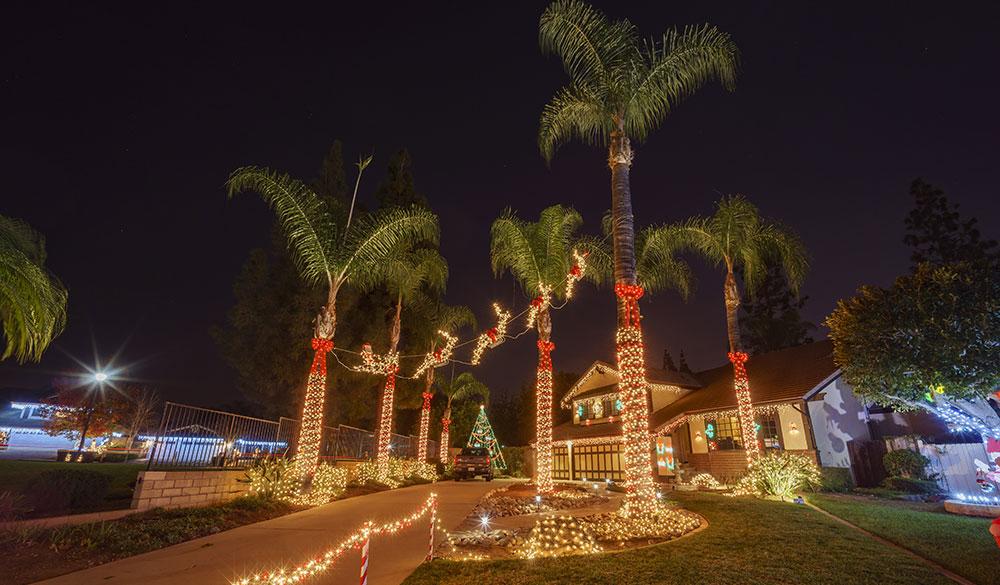 Christmas Lights Outside Home